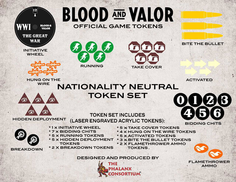 Blood and Valor Nationality Neutral Token Set