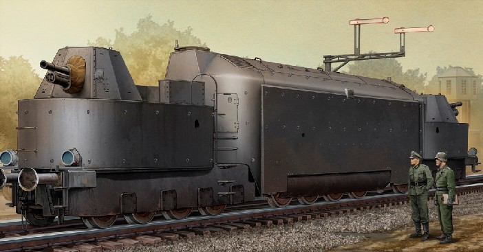German Armored Train Panzertriebwagen Nr16 (New Tool)