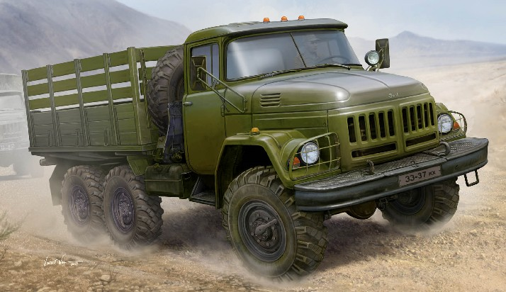Russian Zil131 Military Truck w/Stake Body