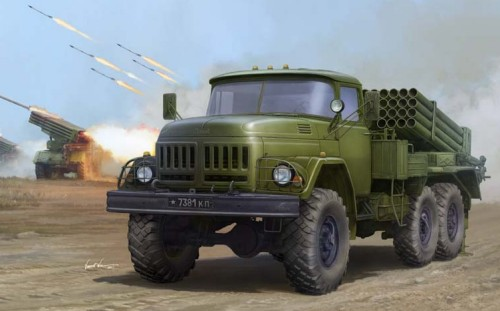 Russian Zil131 Military Truck w/9P138 Grad-1 Rocket Launcher