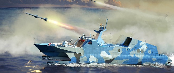 PLA Chinese Navy Type 22 Missile Boat (New Tool)