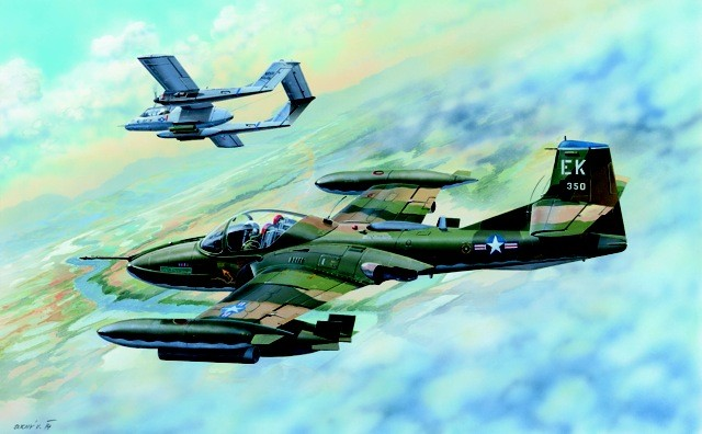 US A37B Dragonfly Light Ground Attack Aircraft