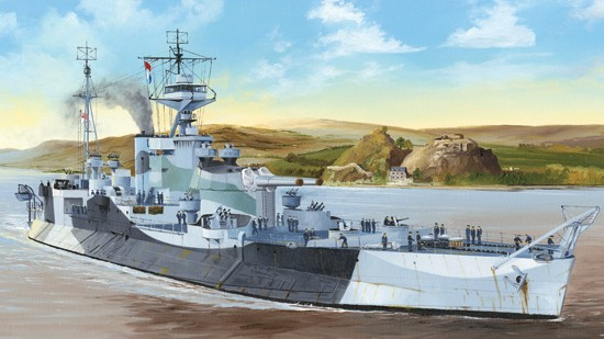 HMS Abercrombie British Monitor Ship