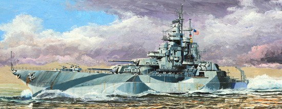 USS West Virginia BB48 Battleship 1945
