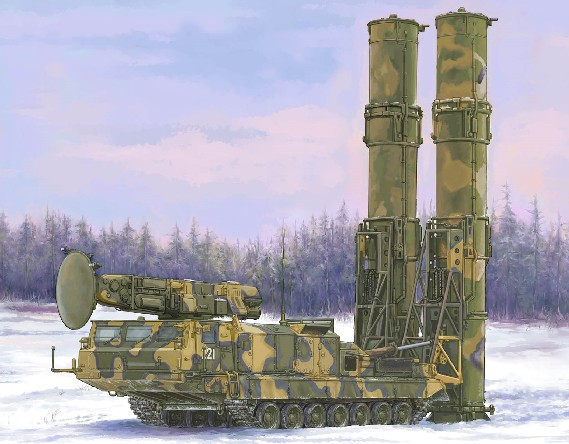 Russian S300V 9A82 Surface-to-Air (SAM) Missile System
