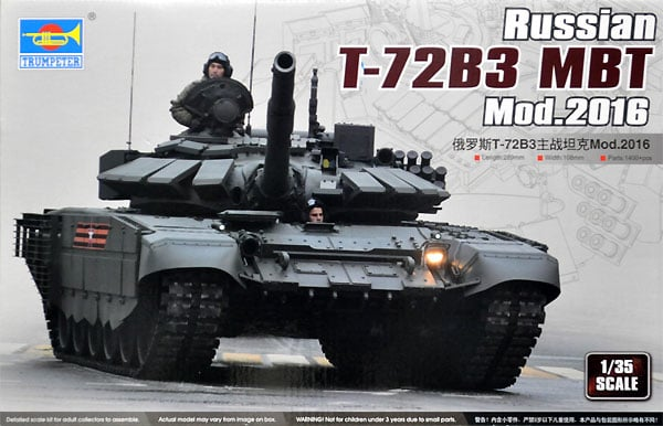 Russian T72B3 Mod 2016 Main Battle Tank