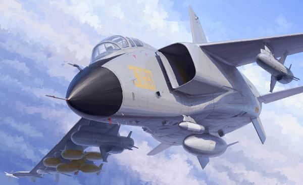PLA Chinese JH7A Flying Leopard Bomber
