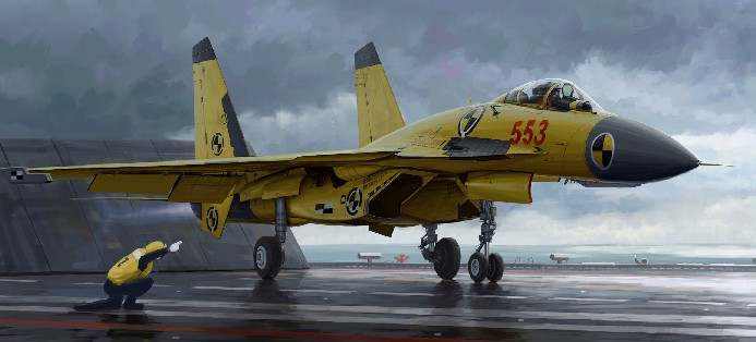 Chinese J15 Fighter w/Flight Deck