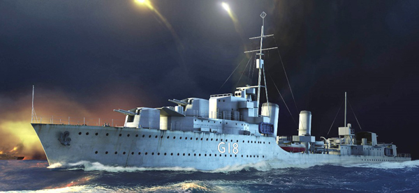 HMS Zulu British Tribal Class Destroyer 1941