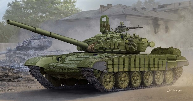 Russian T72B/B1 Main Battle Tank w/Kontakt-1 Reactive Armor