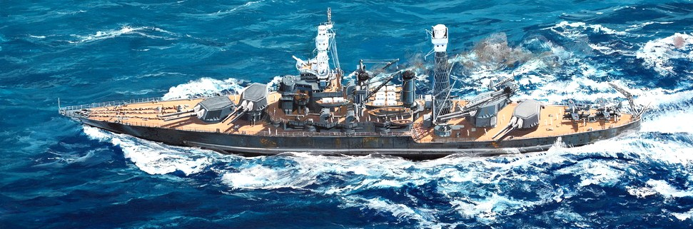 USS West Virginia BB48 Battleship 1941