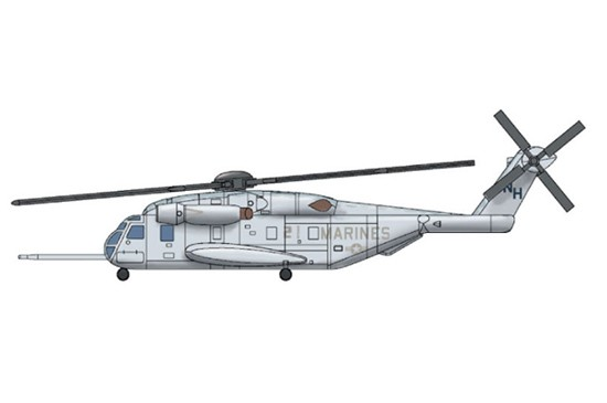 CH53E Super Stallion Helicopter Set for Warships (3/Bx)