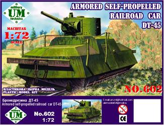 Armored Self-Propelled Railroad Car DT45