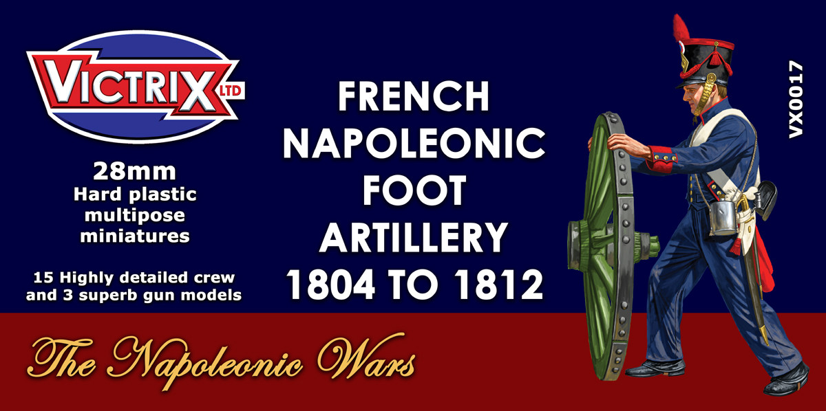 French Napoleonic Foot Artillery 1804 to 1812