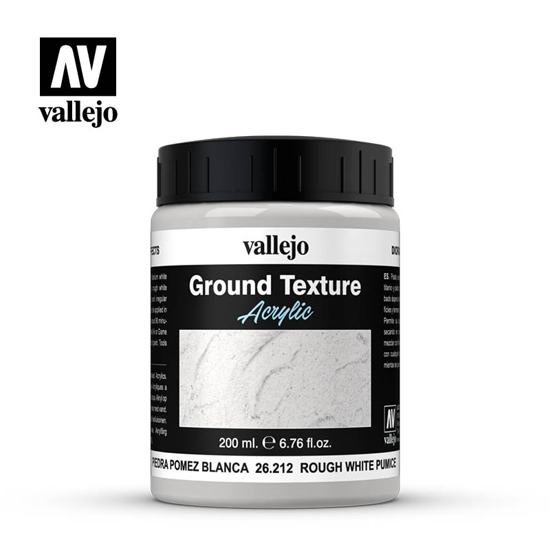 Vallejo Earth Textures- Fine White Pumice 200ml.