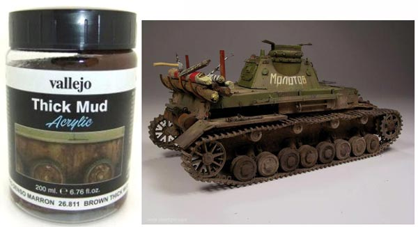 Brown Thick Mud Weathering Effect 200ml Bottle