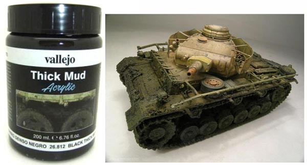 Black Thick Mud Weathering Effect 200ml Bottle