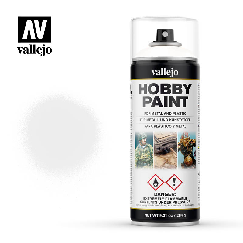 Vallejo Hobby Paint - White 400ml Spray Can