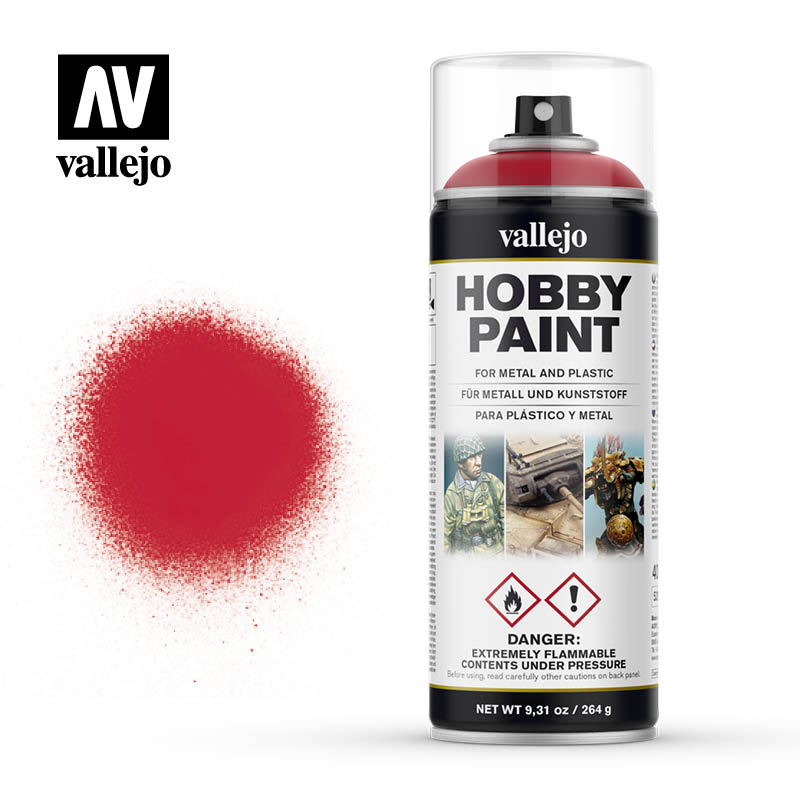 Vallejo Hobby Paint - Bloody Red 400ml Spray Can