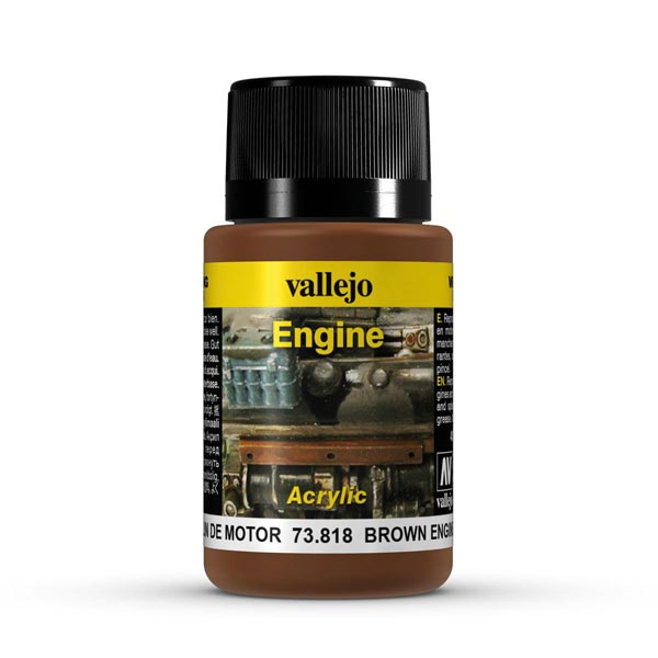 Brown Engine Soot Weathering Effect 40ml Bottle