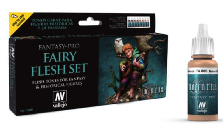 Fairy Flesh Tones Nocturna Fantasy-Pro Paint Set Model Air Paint Set (8 Colors)