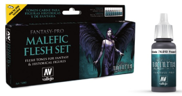 Malefic Flesh Tones Nocturna Fantasy-Pro Paint Set Model Air Paint Set (8 Colors)