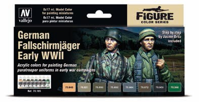German Fallschirmjager Early WWII Model Color Paint Set (8 Colors)