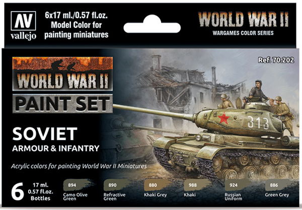 WWII Paint Set - Soviet Armour & Infantry