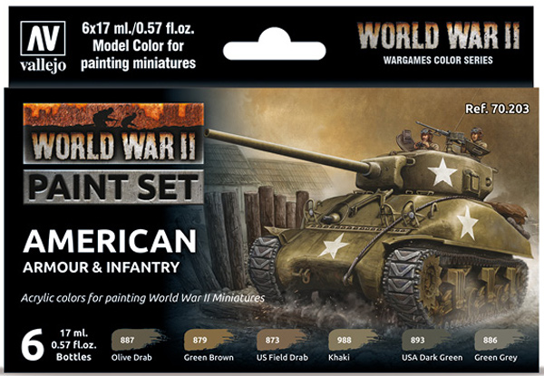 WWII Paint Set - American Armour & Infantry