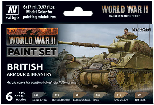 WWII Paint Set - British Armour & Infantry