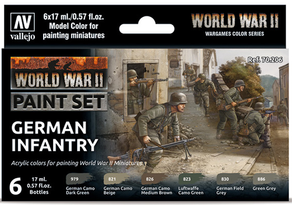 WWII Paint Set - German Infantry