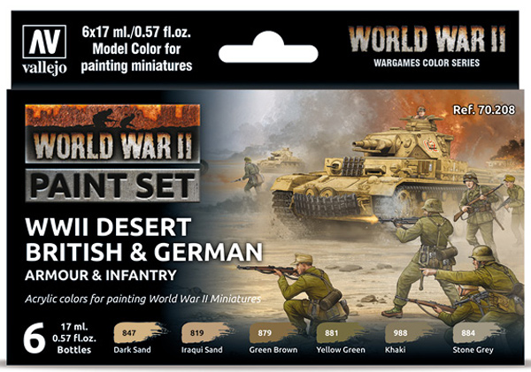 WWII Paint Set - Desert British & German Armour & Infantry