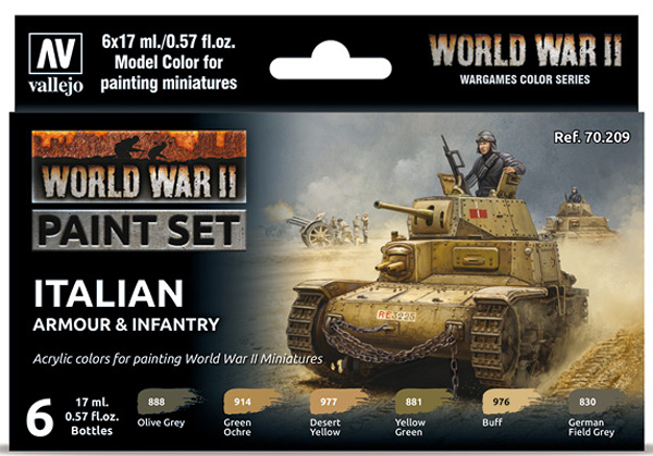 WWII Paint Set - Italian Armour & Infantry