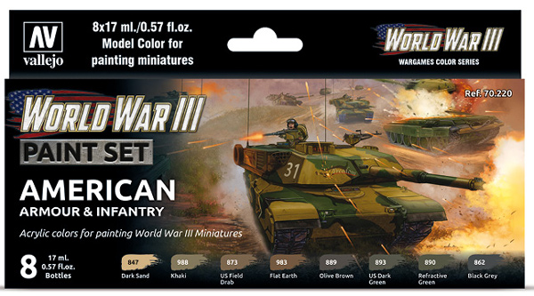 WWIII Paint Set - American Armour & Infantry