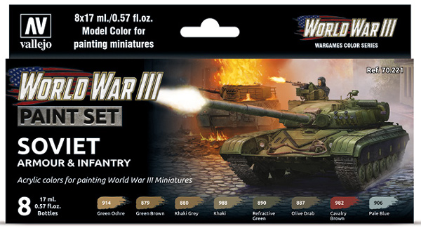 WWIII Paint Set - Soviet Armour & Infantry