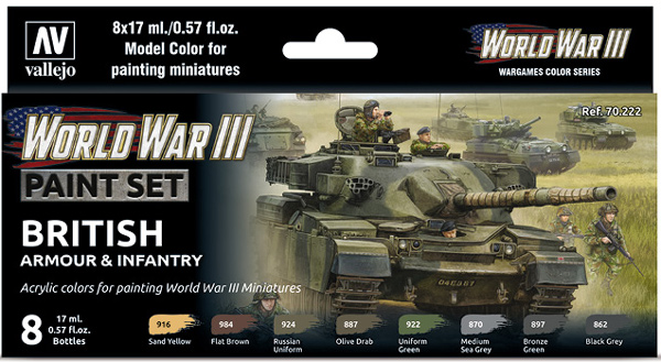 WWIII Paint Set - British Armour & Infantry