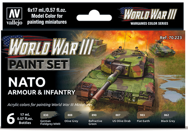 WWIII Paint Set - NATO Armour & Infantry