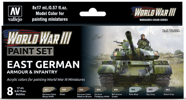 WWIII Paint Set - East German Armour & Infantry