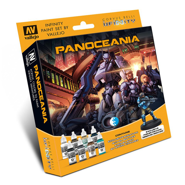 Infinity Panoceania Paint Set (8 Colors w/Figure) - ONLY 1 AVAILABLE AT THIS PRICE