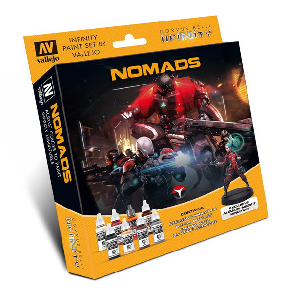 Infinity Nomads Paint Set (8 Colors w/Figure) - ONLY 1 AVAILABLE AT THIS PRICE