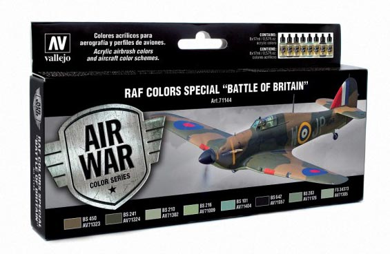 RAF Colors Special Battle of Britain Model Air Paint Set (8 Colors)