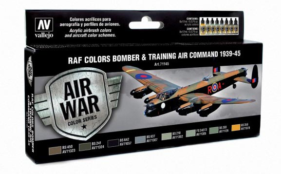 RAF Colors Bomber & Training Air Command 1939-1945 Model Air Paint Set (8 Colors)