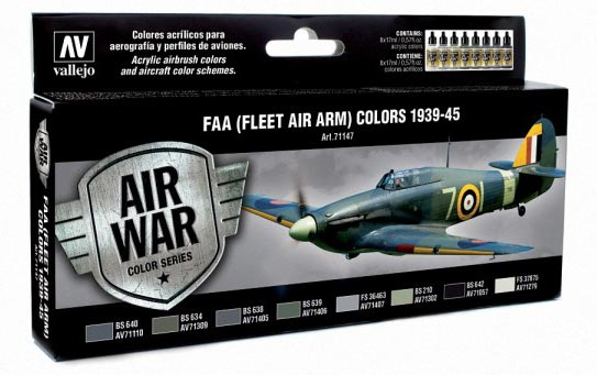 FAA (Fleet Air Arm) Colors 1939-1945 Model Air Paint Set (8 Colors)