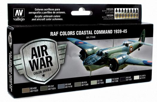 RAF Colors Coastal Command 1939-1945 Model Air Paint Set (8 Colors)