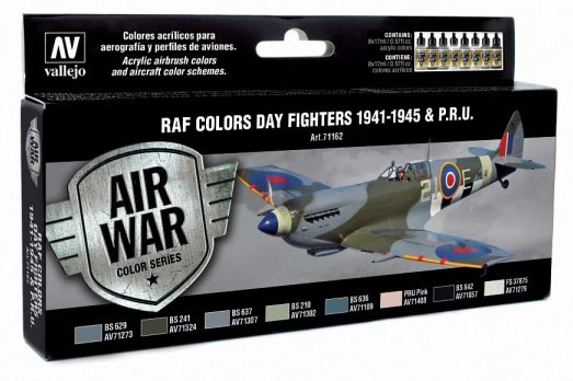 Vallejo Model Air Set WWII RAF Day Fighter Colors - Revised