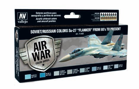 Model Air Soviet/Russian Colors Su27 Flanker from 80s to Present Paint Set (8 Colors)