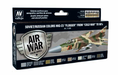 Model Air Soviet/Russian Colors MiG23 Flogger from Cold War to 90s Paint Set (8 Colors)
