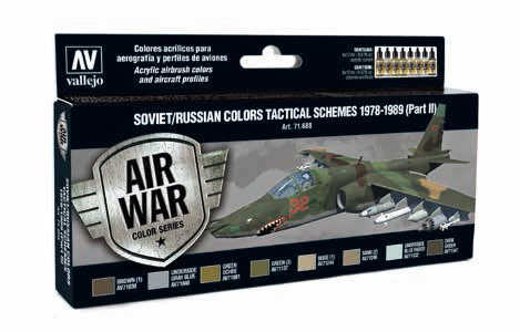 Model Air Soviet/Russian Colors Tactical Schemes 1978-1989 Part II Paint Set (8 Colors)