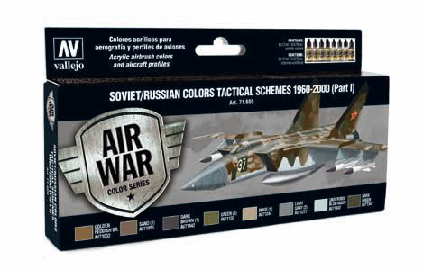 Model Air Soviet/Russian Colors Tactical Schemes 1960-2000 Part I Paint Set (8 Colors)