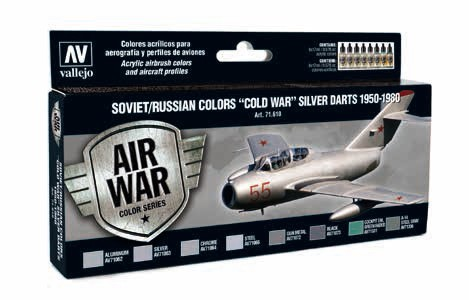 Model Air Soviet/Russian Colors Cold War Silver Darts 1950 -1980 Paint Set (8 Colors)